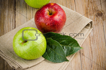 Apples in a napkin