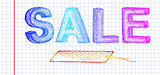 sale and label