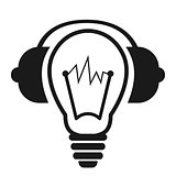 Light Bulb with Headphones