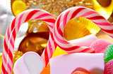candy canes and treats