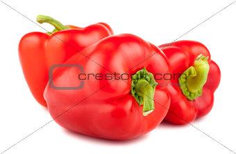 Three ripe sweet peppers