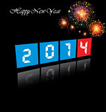 Happy New Year 2014 celebration background.