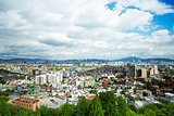 view of central seoul in south korea