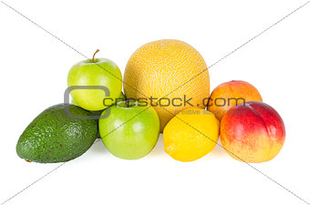 Fresh and tasty fruits isolated on white