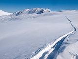 Langlauf tracks in the snow