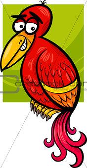 exotic bird cartoon illustration