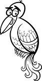 exotic bird cartoon coloring page