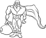 super hero santa coloring page