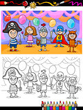 kids ball for coloring book