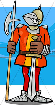 knight in armor cartoon illustration