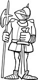 knight in armor cartoon coloring page