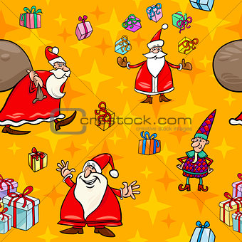 christmas cartoon seamless pattern wrapper