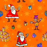 christmas cartoon seamless pattern paper