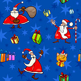 christmas cartoon seamless pattern decor