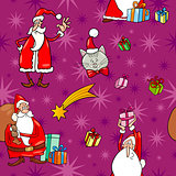 christmas cartoon seamless pattern tile