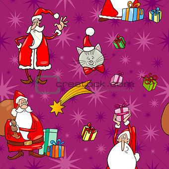 christmas cartoon seamless pattern tile
