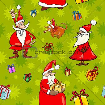 christmas cartoon seamless pattern design