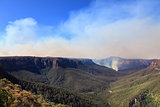 Fires in Blue Mountains Australia