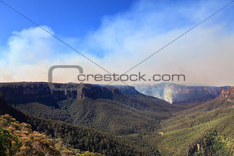 Fires in Blue Mountains Australia