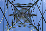 Electricity pylon from below