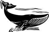 Woodcut Whale 6
