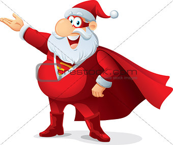 Super Santa - Vector Cartoon