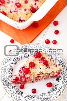 Slice of cranberry pie
