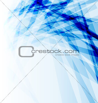 Blue business brochure, abstract background