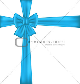 Blue bow for packing gift