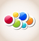 Abstract background with set of multicolor circle