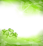 St. Patrick Day green clover background