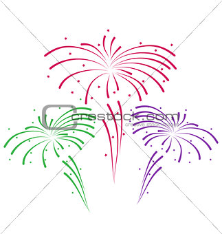 Sketch for abstract colorful firework