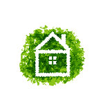 Icon eco home on grunge background