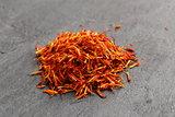 moroccan saffron treads in pile