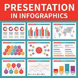 Presentation in Infographic - Vector Illustration