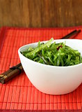 Traditional Japanese Chuka green seaweed salad