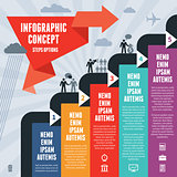 Infographic Business Concept Steps Options