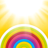 Rainbow Colored Circles. Shiny Vector Background. Abstract Background