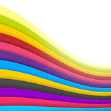 Rainbow Colored Stripes. Shiny Vector Background