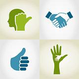 Set of hands5