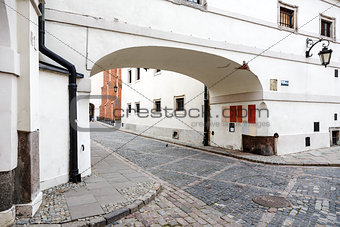 Archway, the architecture of the old town in Warsaw