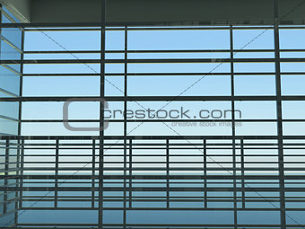 Architecture: windows and sky