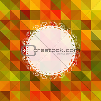 Autumn Ornate Frame Greeting Card