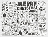 Doodle Christmas background