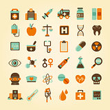 Medical icons set, .