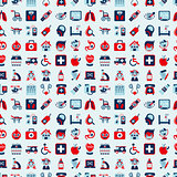 seamless retro Medical pattern