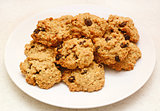 Oatmeal raisin cookies fresh from the oven