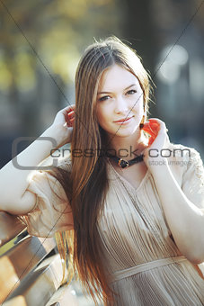 beautiful red hair young woman