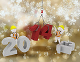Happy New Year background with white characters