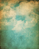 Grunge clouds background